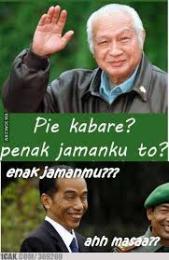 Piye Kabare, Enak Jamanku To? Pesan Soeharto Untuk Jokowi